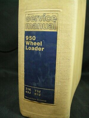 Caterpillar 950 Wheel Loader Service Manual 31k 43j 73j 81j