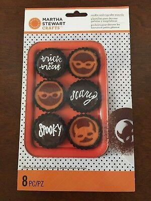 Martha Stewart Crafts HALLOWEEN Cookie and Cupcake Stencils ~ 9 Piece NIP!](Martha Stewart Halloween Cookies)