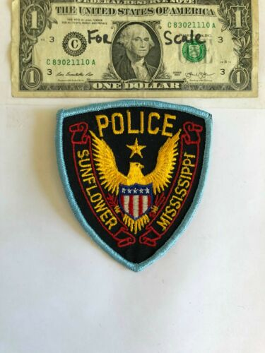 Rarer Sunflower Mississippi Police Patch Un-sewn Great condition