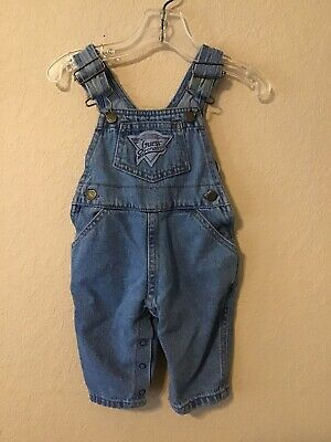 Baby GUESS Denim Jeans Overall Bib Light Blue Wash Size 6 -