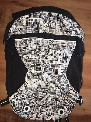 Lululemon Seawheeze Run All Day Backpack NWT City Grid Pattern 2016