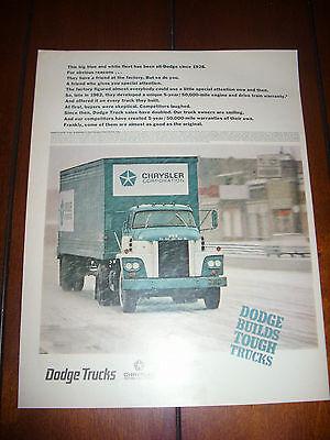 1967 DODGE TRUCK TRACTOR TRAILER  Original Vintage Ad