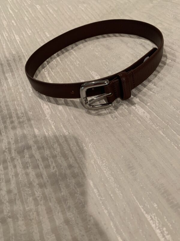 Janie And Jack Boys Brown Leather Belt Size 2-3t EUC