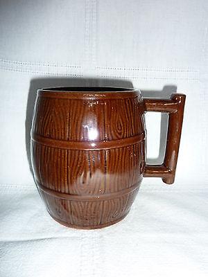 Alter Bierkrug - Bierhumpen aus Keramik- Bierfassoptik