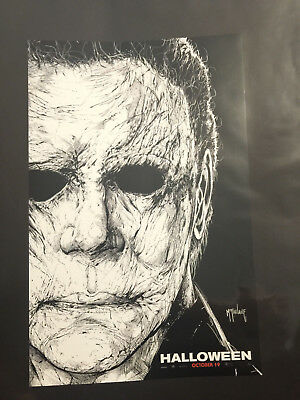 NYCC 2018 Todd McFarlane HALLOWEEN 11 X 17 Movie Poster Promo Mike Myers