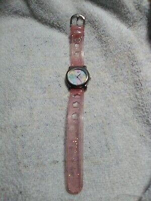 ⌚ Hello Kitty Sanrio Kids Watch Jelly Pink Glitter Band Teach How To Tell Time](Blackbeard Band)