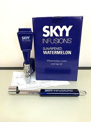 NEW Skyy Vodka Infusions Watermelon Kit Corer and Tap Party Bar Accessory
