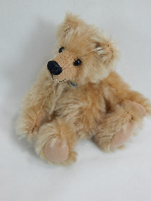 "World Of Miniature Bears Dollhouse Miniature 4"" Mohair Pellet Bear #5057 Nutmeg"