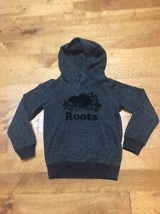Size 5/6 Kids Grey Roots Hoodie