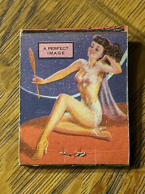 """Pin-Up Girl Vintage Matchbook no matches """"A Perfect Image"""""""