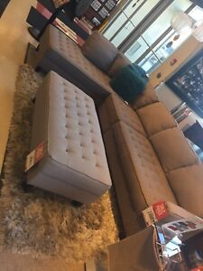 Paris couch with ottoman
