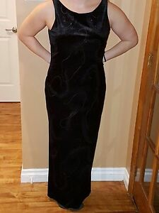 Beautiful elegant black evening dress