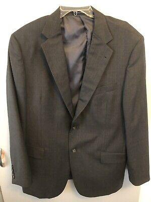 Joseph Abboud Collection - Joseph Abboud Collection Men's 48 Regular Blazer Two Button Jacket Dark Gray