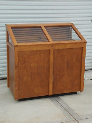 Custom Built Solid Wood Display Case From Jewelry Store For Watches Jewelry Etc