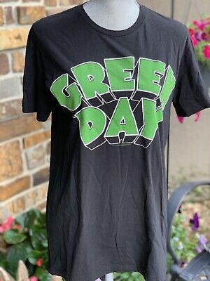Green Day Rock Band T-Shirt Green Black Small Hot Topic 90's Vibe Punk