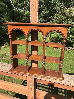 Used, Vintage Large Solid Wood Wall Hanging Tea Cup Saucer Display Curio Cabinet Shelf for sale  Shipping to Canada
