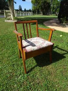 Vintage Wooden Commode Chair
