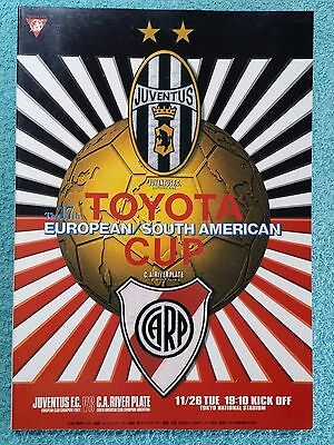 1996 - CLUB WORLD CUP FINAL PROGRAMME - JUVENTUS v RIVER PLATE - V.G CONDITION