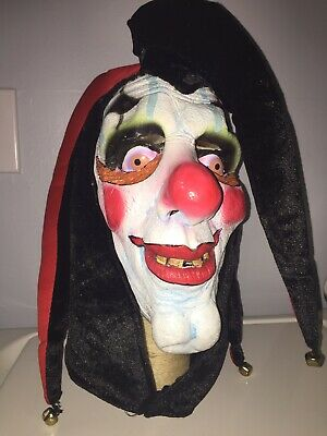 Vintage Clown Mask (‼️Vintage Creepy Evil Scary Halloween Clown Mask Latex JESTER)