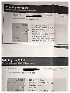 2 UFC 206 tickets  Peterborough Peterborough Area image 2