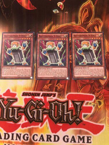 Mixed Yu-Gi-Oh 3x Batteryman 9-Volt DUEA-EN038