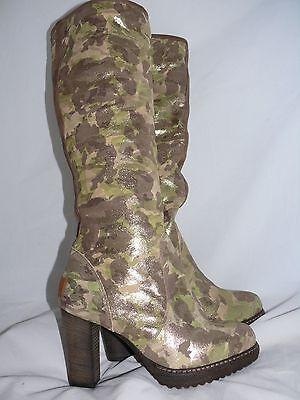 UGG COLLECTION JULIETTA Metallic Camouflage Camo SHEARLING BOOTS SIZE US 6 EU 37 Mp3 Player Camo
