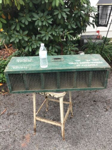 Pennsylvania Game Commission wooden bird carrier PA crate box quail pigeon PGC
