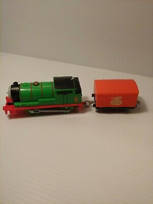2013 Motorized Thomas & Friends Trackmaster Percy Train and Tender Tested Works