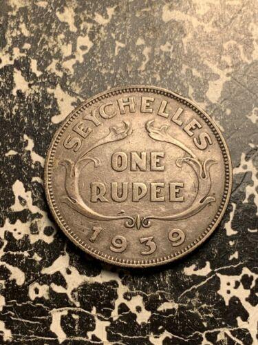 1939 Seychelles 1 Rupee Lot#Q539 Silver! Low Mintage!