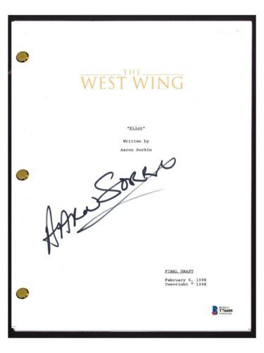 Aaron Sorkin Signed Autograph THE WEST WING Pilot Episode Script Beckett BAS COA