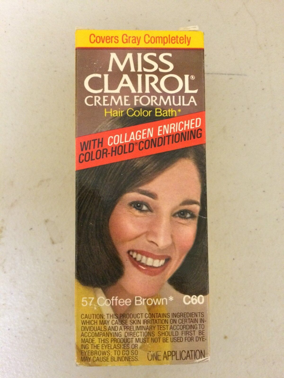 Vintage Miss Clairol Hair Color Bath With Collagen Enriched Coffee