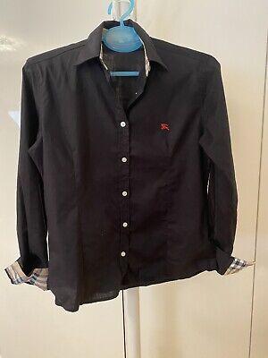 Authentic Women BURBERRY Black Shirt Size M (fit UK8)