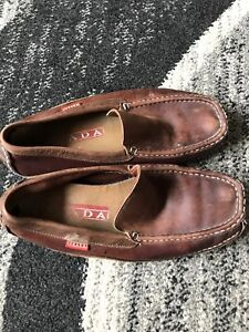 Authentic Men's Prada Deck Boat Shoes 7.5