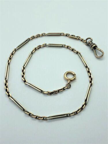 Victorian 14k Bar Link Pocket Watch Chain