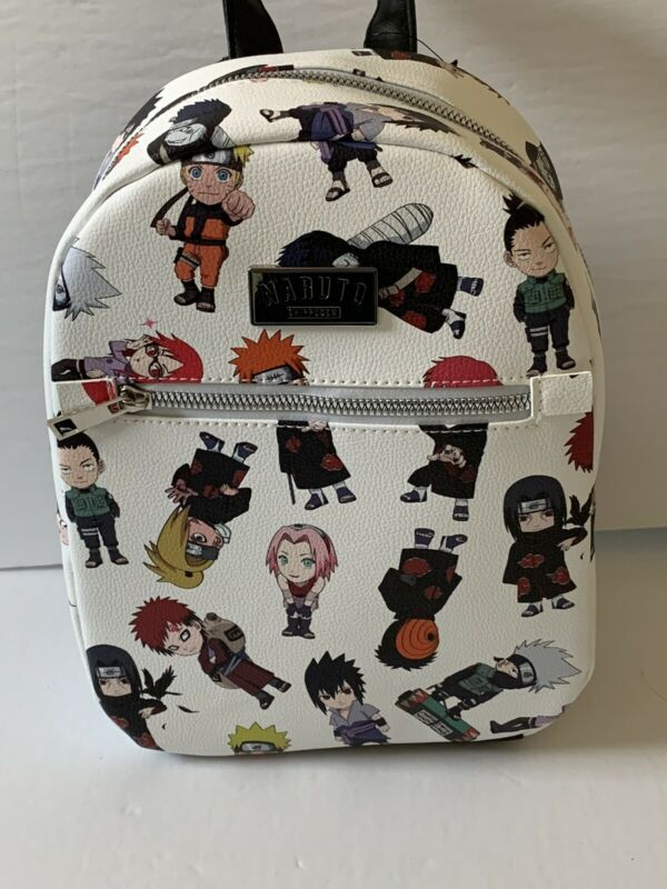 Naruto Shippuden Chibi Characters Mini Backpack Bioworld Japanese Anime AOP