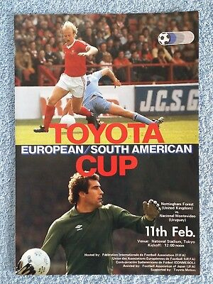 1980 - CLUB WORLD CUP FINAL PROGRAMME - NOTTS FOREST v NACIONAL - JAPANESE FA ED