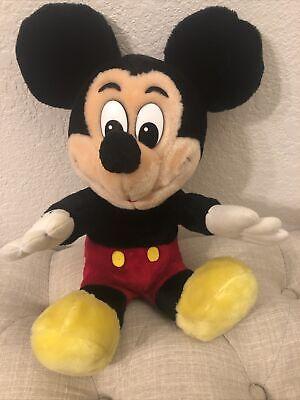 "Vintage 70's Mickey Mouse Plush Disney Stuffed Doll Toy 16"""
