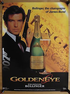 GOLDENEYE (1995) - original UA Bollinger promotional poster, James Bond 007