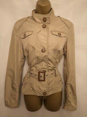 iBLUES Max Mara Size UK 12 Lightweight Belted Jacket Beige 0241