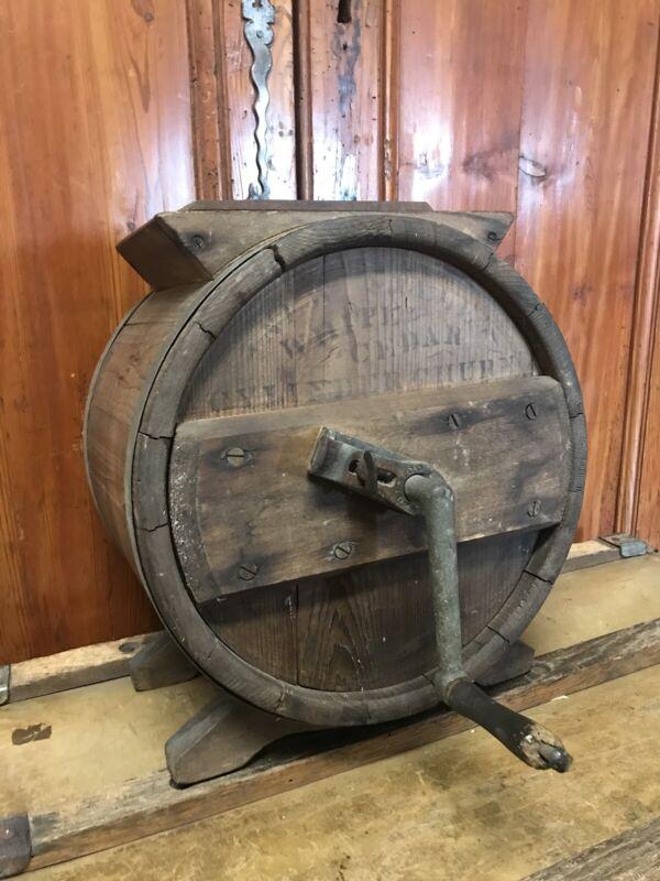 Antique Cedar Cylinder Barrel Butter Churn 3 Gallon Rare! Martha's Vineyard