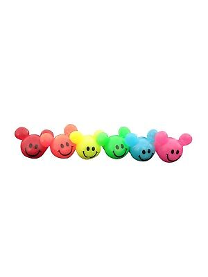 Light Up LED Flashing Disney Mickey Minnie Mouse Smiley Face Rings Party Favors](Smiley Face Lights)