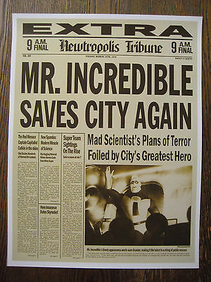 The Incredibles Newspaper ( 11