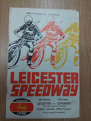 LEICESTER SPEEDWAY PROGRAMME- LEICESTER v COVENTRY 27th May 1969