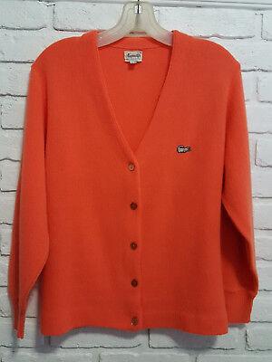 Vintage 1960S Haymaker Izod Lacoste Ladies Cardigan Sweater Size Measures Below