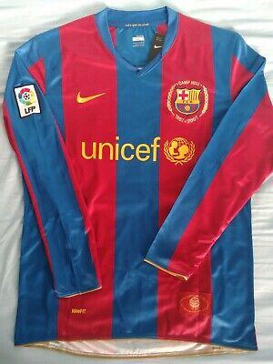 Barcelona Ronaldinho 2007 2008 shirt jersey Remake Retro camiseta Size L