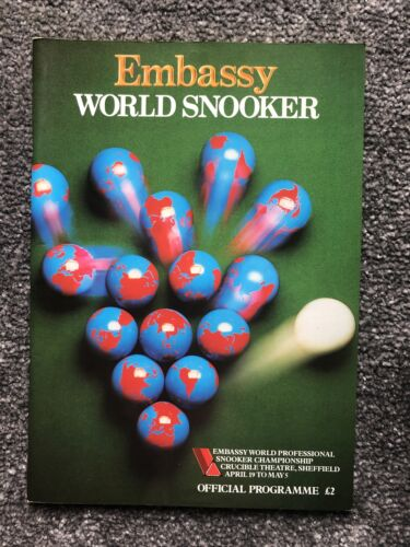 Embassy World Snooker Souvenir Programme 1986.