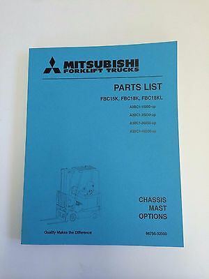 Mitsubshi Forklift Parts Manual Fbc15k Fbc18k Fbc18kl