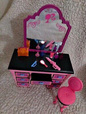 Mattel RARE Loose 2008 Barbie Glam Bedroom Vanity Dream House Furniture NR