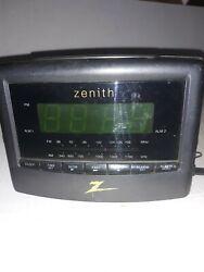 Zenith AM/FM Radio Dual Alarm Clock Black # Z124B Bedside Night Clock