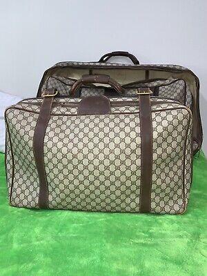 "Vintage Gucci Suitcase 25""x 15"" Brown With Monogram"